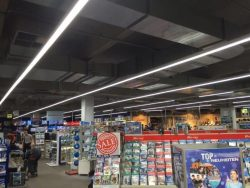 LED Linear Trunking System Continuous-row systems and individual batten luminaires