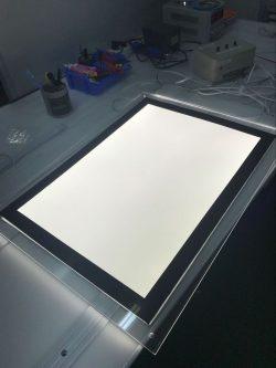 Poster-Box LED-LGP Leuchtrahmen 200 Stueck LED SMD 2835 auf Aluminium PCB ( Platine) LED-LGP Leuchtrahmen